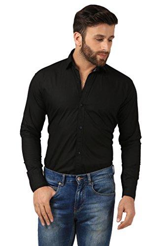 Mesh-Full-Sleeves-Casual-Cotton-Shirt-for-MensBoys-Black-Parent