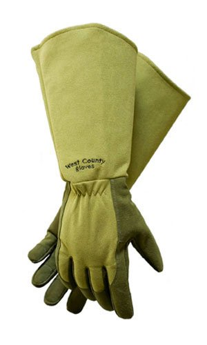 West County 054MM Gauntlet Rose Glove, Moss, Medium