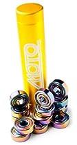 Moto Premium Swiss Bearings - Moto Derby Skate Bearings - 8mm Yellow