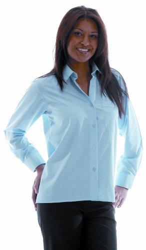 da donna ufficio biglietti da visita logo marchio Wear Da Donna Classic camicia maniche lunghe da lavoro a maniche lunghe Shirts