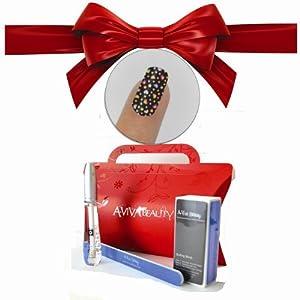 Le clou Dépouille la Trousse Bling Heart+ le Pétrole de Cuticule de Swisa + la Trousse de Clou d'UN-viva - le Tampon + le Dossier de Clou Ecologique + la Boîte cadeau Rouge