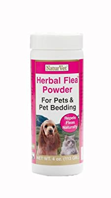 NaturVet Herbal Flea Pet Powder, 4 Ounce by NaturVet