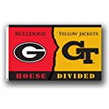 Georgia Bulldogs / Georgia Tech Yellow Jackets Rivalry 3 x 5 Flag at Amazon.com