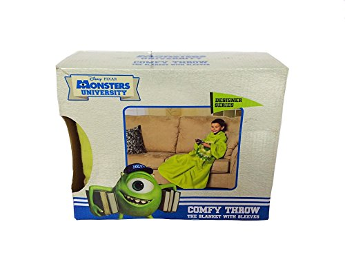Monsters Inc University Comfy Throw Blanket with Sleeves (Monsters Inc Toddler Blanket compare prices)
