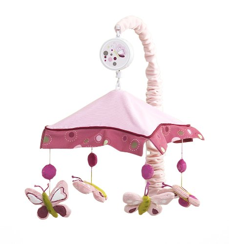 Lambs & Ivy Raspberry Swirl Musical Mobile front-50411