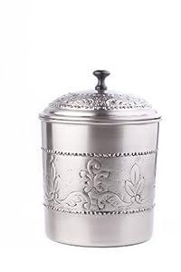 Old Dutch Victoria Cookie Jar, 7 by 9-1/2-Inch, Antique Pewter