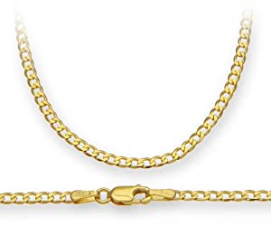 ChainCo 9ct Yellow Gold 3.2g Curb Necklace of 46 cm/18 Inch Length and 2.3mm Width