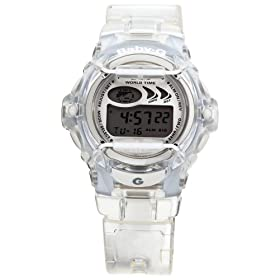 Casio Women's Baby-G Clear Jelly Shock Resistant Sports Watch #BG169-7V