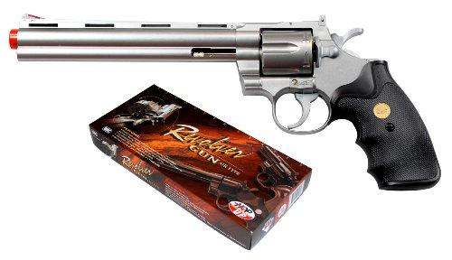 941 UHC 8 inch revolver, Silver airsoft gun