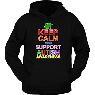 Keep Calm And Support Autism Awareness Hoodie