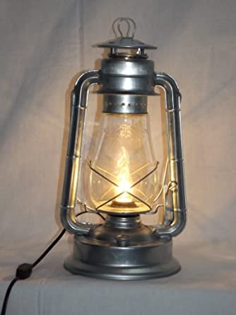 bright galvanized 39 vintage style 39 electric lantern table