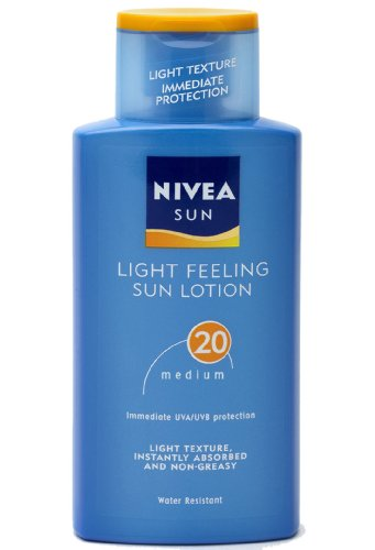 Nivea Sun Light Feeling Sun Lotion High SPF20 Non Greasy Light Texture 200ml