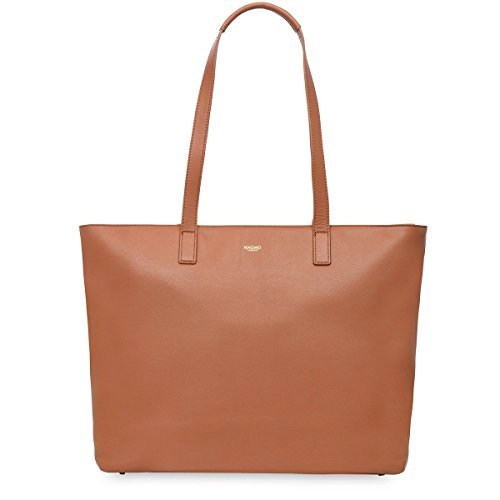 knomo-luggage-maddox-top-zip-tote-15-inch-caramel