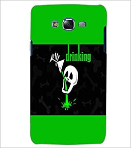 PrintDhaba Funny skull D-4054 Back Case Cover for SAMSUNG GALAXY ON 7 (Multi-Coloured)