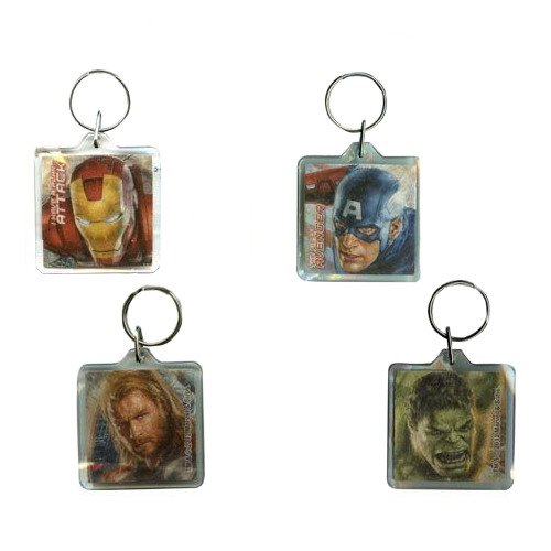 WeGlow International Avengers Foil Keychains (6 Keychains), Assorted