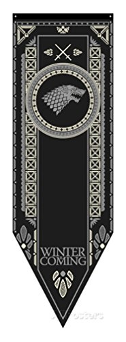 Game Of Thrones- House Stark Tournament Banner Fabric Poster 20 x 60in (House Stark compare prices)