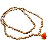 Aum Zone Natural Tulsi Jap Mala 108+1 Beads (Length: 39.5 Cm, Beige)