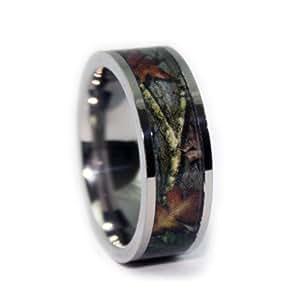 Camo Wedding Ring - Titanium Wedding Band - Camo Ring (8)