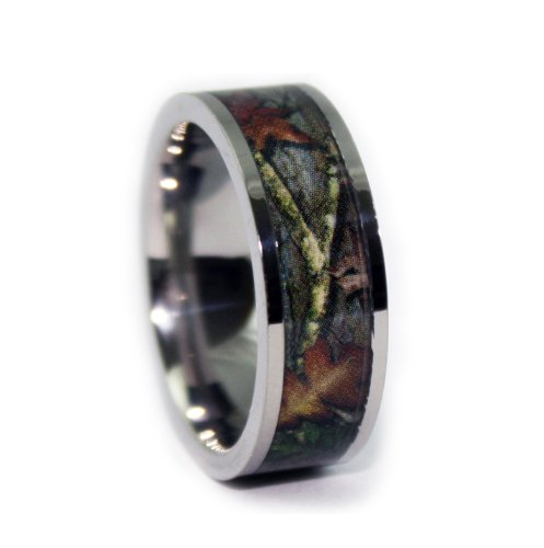 1-CAMO-Wedding-Rings-Camouflage-Engagement-Bands-Flat-Titanium