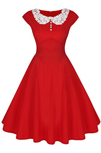 ACEVOG Women's Vintage Casual 1950'S Retro Dress