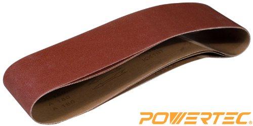 POWERTEC-110203-6-Inch-x-48-Inch-240-Grit-Aluminum-Oxide-Sanding-Belt-3-Pack