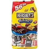 Hershey(�n�[�V�[) �~�j�`���A�`���R���[�g HERSHEY�fS 4��ރm�A�\�[�g 1580G 56OZ ��e�ʂ����ƒ`���R