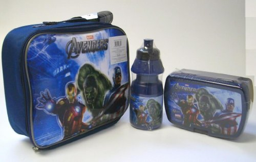 Marvel Avengers Assemble Childrens Lunch set Box Bottle Bag Official Licensed