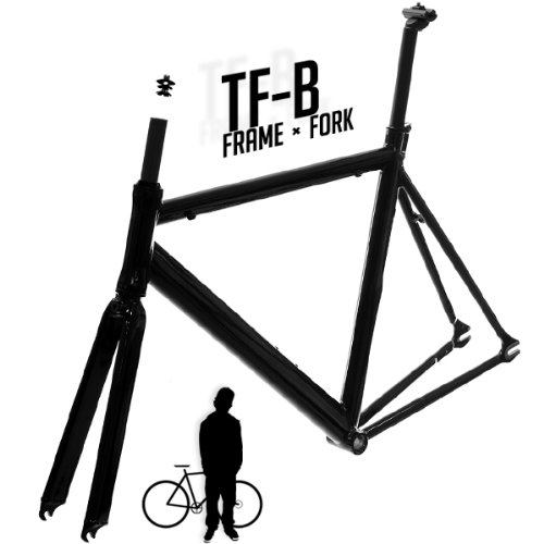 Track Fixie Road Bike Frame with Fork Black 50cm