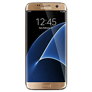 Samsung Galaxy S7 Edge Dual Sim Factory Unlocked Phone 32 GB - Internationally Sourced (Middle East/Africa/Asia) Version G935FD- Platinum Gold