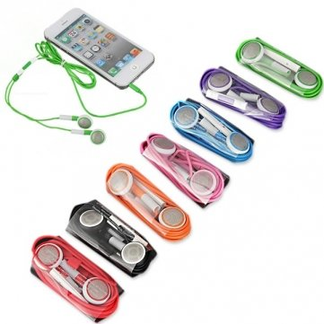 7 Color Headphone Headset Earpods Earphone Remote Mic For Iphone 5 --- Color:Purple