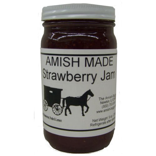 Amish Jam Strawberries - 8 Oz Set of Three Jars