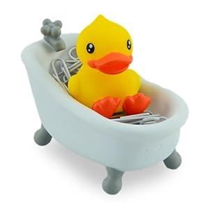 Novelty Bathtime Duckie Paper Clip Holder