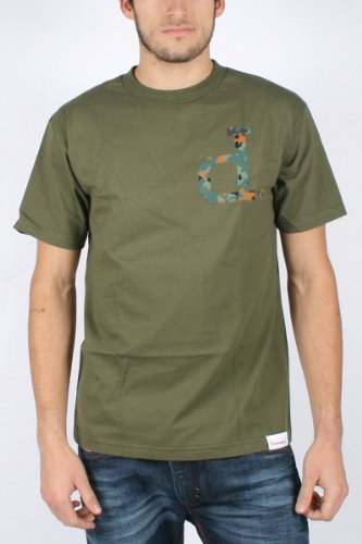 Diamond Supply - Mens Un-Polo Camo T-shirt in Army, Size: Large, Color: Army