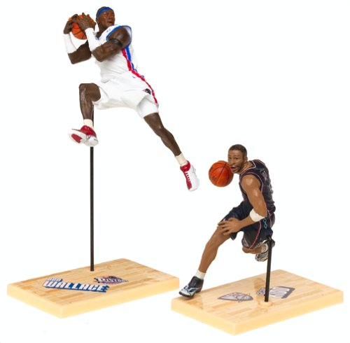 McFarlane Toys NBA 3 Inch Sports Picks Series 1 Mini Figures 2-Pack Ben Wallace & Jason Kidd - 1