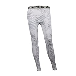 Imported Men Exercise Legging Running Tight Trousers Workout Sport Pants White XXL