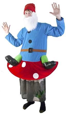 Adult Gnome on Mushroom Costume (Size: Standard 44)