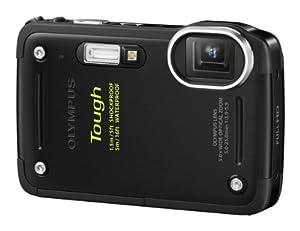 Olympus TG-620 Digitalkamera (12 MP, 5-fach opt. Zoom, 3 Zoll Display, True Pic 6 Prozessor, Wasserdicht bis 5m, kälteresistent, staub- und stoßgeschützt) schwarz
