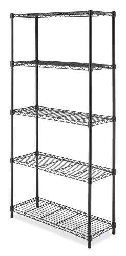 Whitmor 6070-5264 Supreme 5-Tier Shelving Unit, Black