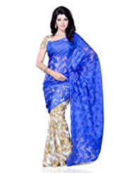Diva Fashion-Surat Jacquard With Floral Print Saree 226A-$P