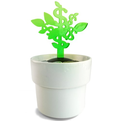 MollaSpace Money Tree Coin Bank, Green