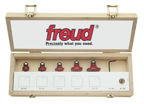 Freud 89-102 5-Piece Round Over and Beading Bit Set