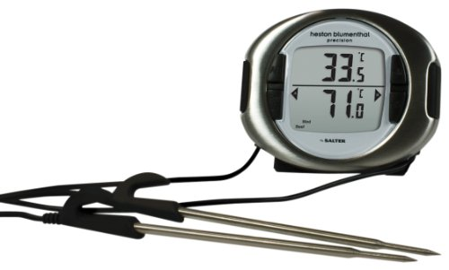 Heston Blumenthal Precision Digital Dual Probe Oven Thermometer with Timer