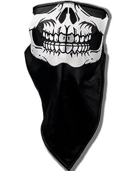 HOT LEATHERS(ホットレザーズ) バイカーファッション 刺繍 仕立ての 口だけスカル柄 フェイスマスク rfh127
