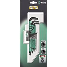 Wera Hexagon 950 SPKL/9 SB L-Key Set, BlackLaser, Ballpoint Hex Key, 9 Piece