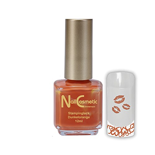 Stamping Lack Dunkel Orange / Stampinglack Dunkel Orange / Nagellack Dunkel Orange 12ml