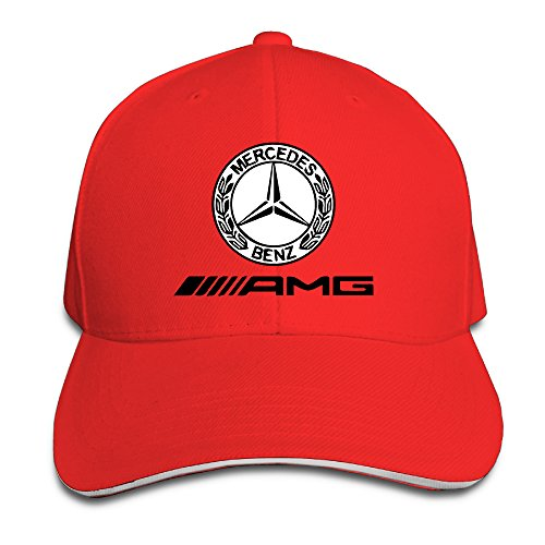 k-fly2-unisex-adjustable-mercedes-amg-logo-baseball-caps-hat-one-size-red