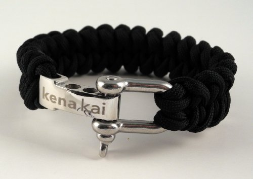 Paracord Survival Bracelet  Stainless Steel Adjustable