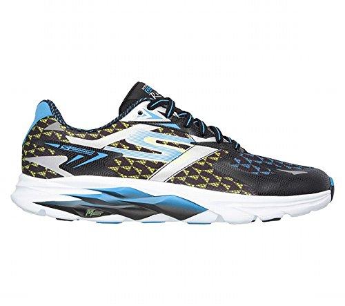 Skechers Performance Men's Go Run Ride 5 Running Shoe, Black/Blue, 11.5 M US