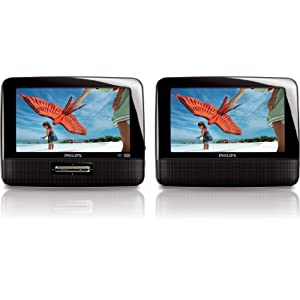 Philips PD7012/37 7Inch LCD Dual Screen Portable DVD