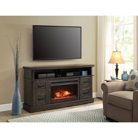 Whalen Weathered Dark Pine Media Fireplace Console for TV's up to 70